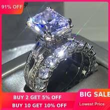 Женское кольцо с Эйфелевой башней choucong серебряное обручальное