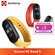 Xiaomi Mi Band 5 Smart Armband 4 Kleur Amoled Screen Miband 5 Smartband Fitness Traker Bluetooth Sport Waterdichte Slimme Band