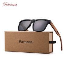 Деревянные солнцезащитные очки ravenisa для мужчин и женщин