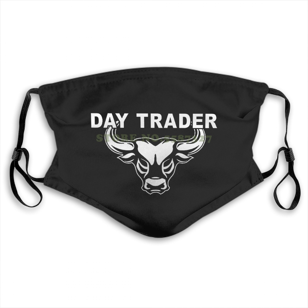 Face Mask Style Print Day Trader Wall Street Mad Stock Market Trading Cramer Money Bull Bear Jim Summer Hot Sale Print Diy Masks image
