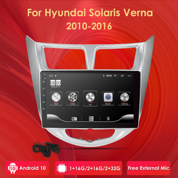 For Hyundai Solaris Accent Verna I25 Car Dvd IPS Android with Gps Navigation Radio Video Car Stereo Multimedia Player FM DAB+ image