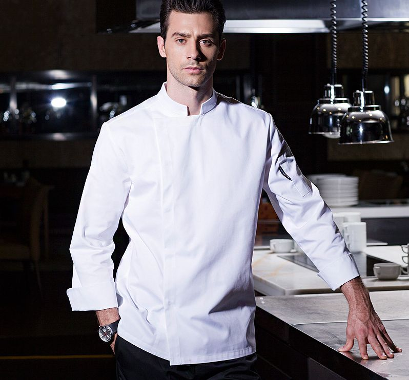 New Men Cook Suit Restaurant Chef Jacket  Kitchen Chef Uniform Cook Clothes Summer Spring Cook Work Wear Breathable Comfortable