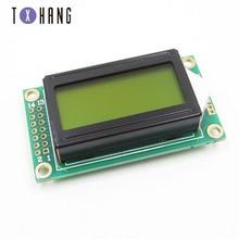 Module Lcd-Display LCM Raspberry Pi Arduino Character 0802 Yellow 8x2 5V for Diy Electronics