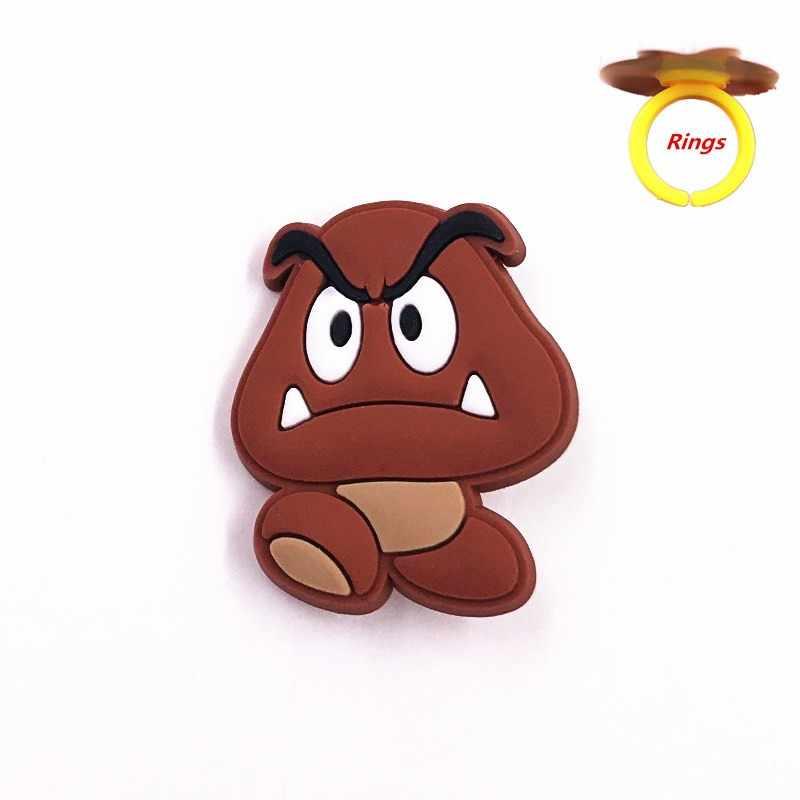 1PCS יושי Goomba סופר מריו Bros סמל יפה תכשיטי אצבע טבעות PVC קריקטורה בעלי החיים מסיבת מתנות קוספליי אביזרי אצבע