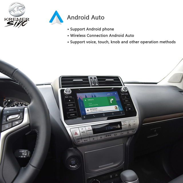 Wireless CarPlay Android Auto for Toyota Landcruiser iSmart Auto Wireless Android Auto for Prado 13-20 Models 4