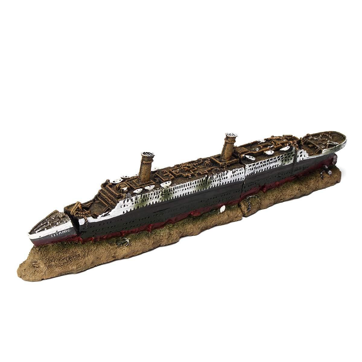 Aquarium Fish Tank Polyresin Titanic Boat Ship Wreck Ornament Fish Tank Aquarium font b Pet b