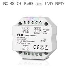 V1-H 2.4G Rf Enkele Kleur Led Dimmer Dc 12V 24V 36V 48V Step-Minder dimmen Led Controller Voor Enkele Kleur Led Strip