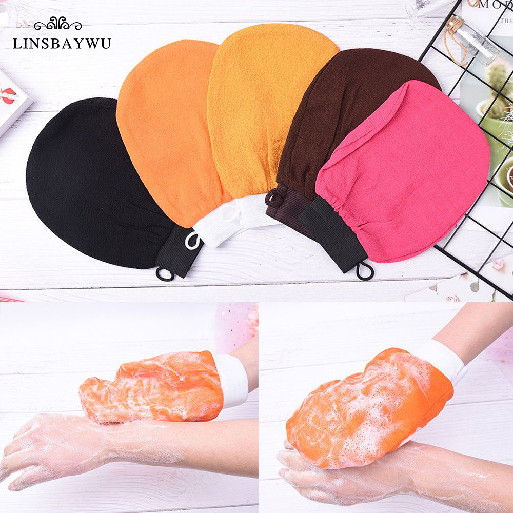Moroccan Hammam Bath Scrub Glove Exfoliating Body Facial Tan Massage Glove Exfoliator Glove Random Color Bath Shower Wash Hot(China)