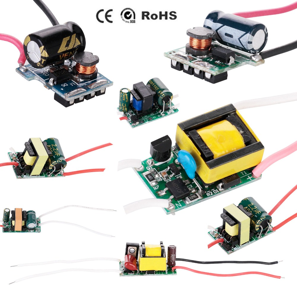 Драйвер для Светодиодный ных ламп, 200 мА, 300 мА, постоянный ток, 85-265 В переменного тока, источник питания для светильник форматоров 3 Вт, 4 Вт, 5 В...