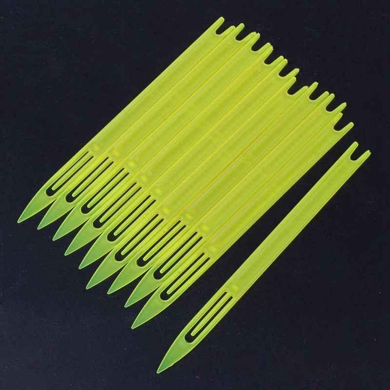 أعلى!-10 قطعة الأصفر البلاستيك الصيد صافي إصلاح إبرة المكوكات بكرة 2 #