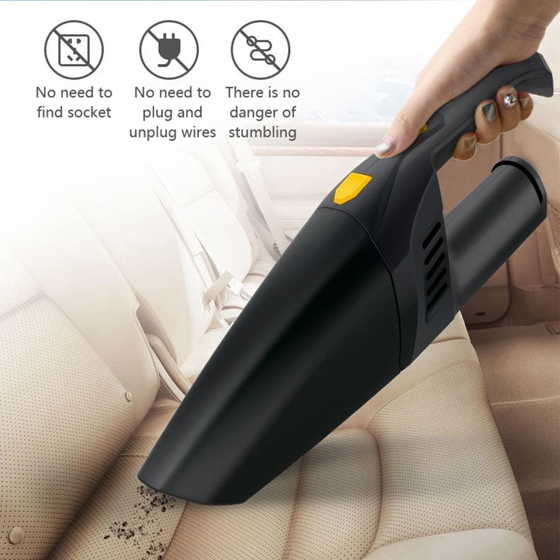 4500pa akülü el elektrikli süpürge küçük Mini taşınabilir araba oto ev elektrikli süpürge kablosuz ıslak kuru silgi otomatik ev