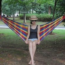 Outdoor Garden Hammock Portable Hang BED Travel camping sleeping hammock Swing Canvas Stripe 200*80cm