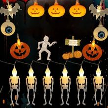 Halloween String Lights Ghost Schedel Pumpkin Decoratie Holiday light Garland christmas Battery Operated