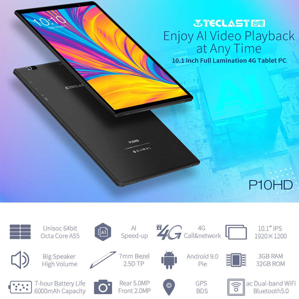 Teclast P10HD 4G שיחת טלפון טבליות אוקטה Core 10.1 אינץ IPS 1920 × 1200 3GB זיכרון RAM 32GB ROM SC9863A GPS אנדרואיד 9.0 6000mAh tablet PC