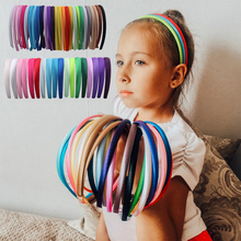 1/1.5/2/2.8cm Satin Headbands Girl Hair Hoop DIY Solid Color Headwear Multicolor Hairband Women Plastic ABS Accessories