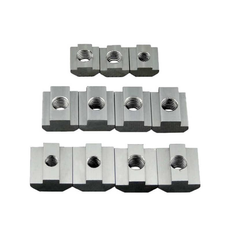 tuerca deslizante de ranura en T de 80 piezas Tuercas en T sujetadores de hardware M4 M5 M6 M8 para perfiles de aluminio 4040 tuerca deslizante en T