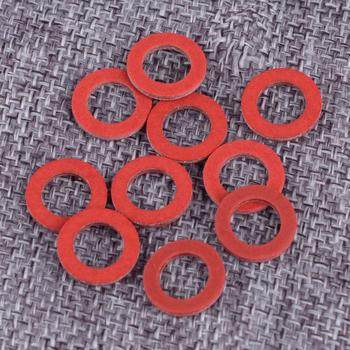 DWCX 10 sztuk czerwona dolna jednostka do spuszczania oleju uszczelka śrubowa pasuje do Yamaha 90430-08020-00 90430-08003 akcesoria tanie i dobre opinie Plastic 90430-08020-00 90430-08003 for 1984 and Newer Yamaha Models and Components