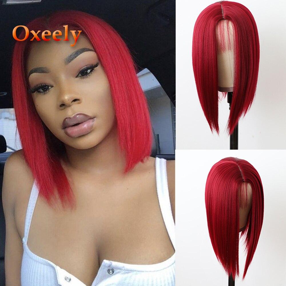 Oxeely фронтальные парики, черные цветные микро косы, термостойкие синтетические парики, длинный Плетеный парик для черных женщин с волосами р