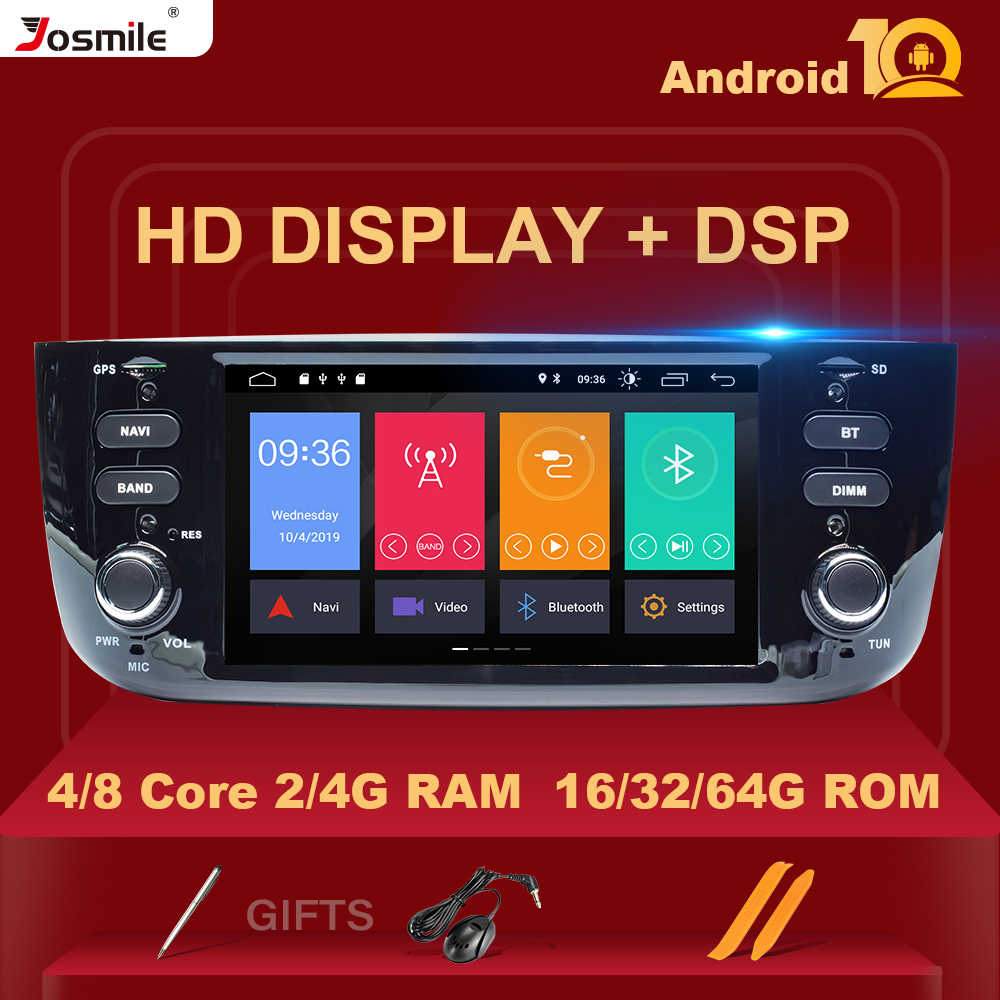 4GB Auto Radio 1 Din Android 10 Mobil Dvd Player Stereo untuk Fiat/LINEA/Punto EVO 2012-2015 Multimedia Gps Navigasi IPS DSP 8 Core