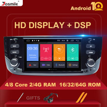 4GB Autoradio 1 Din Android 10 Auto DVD Player Stereo Für Fiat/Linea/Punto evo 2012-2015 Multimedia GPS Navigation IPS DSP 8core