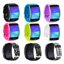 Dişli S R750 bandı aksesuarı yedek bileklik bilezik saat kayışı Band Samsung Gear S akıllı İzle SM R750 çok renkler