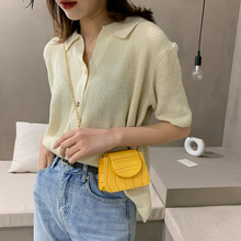 Women Fashion Shoulder Handbag Solid Color PU Stone Pattern Small Female Flap Chain Totes Small Messenger Bags for Women