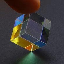 2020 cmy op-tic pr-ism cubos-prisma de vidro óptico, dispersão rgb de seis lados criativos crianças brinquedos educativos f navio rápido