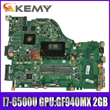 ZAA X32 DAZAAMB16E0 REV:E for ACER laptop E5-575G E5-575 motherboard Mainboard CPU:I7-6500U GPU:GF940MX 2GB DDR4 100% test OK