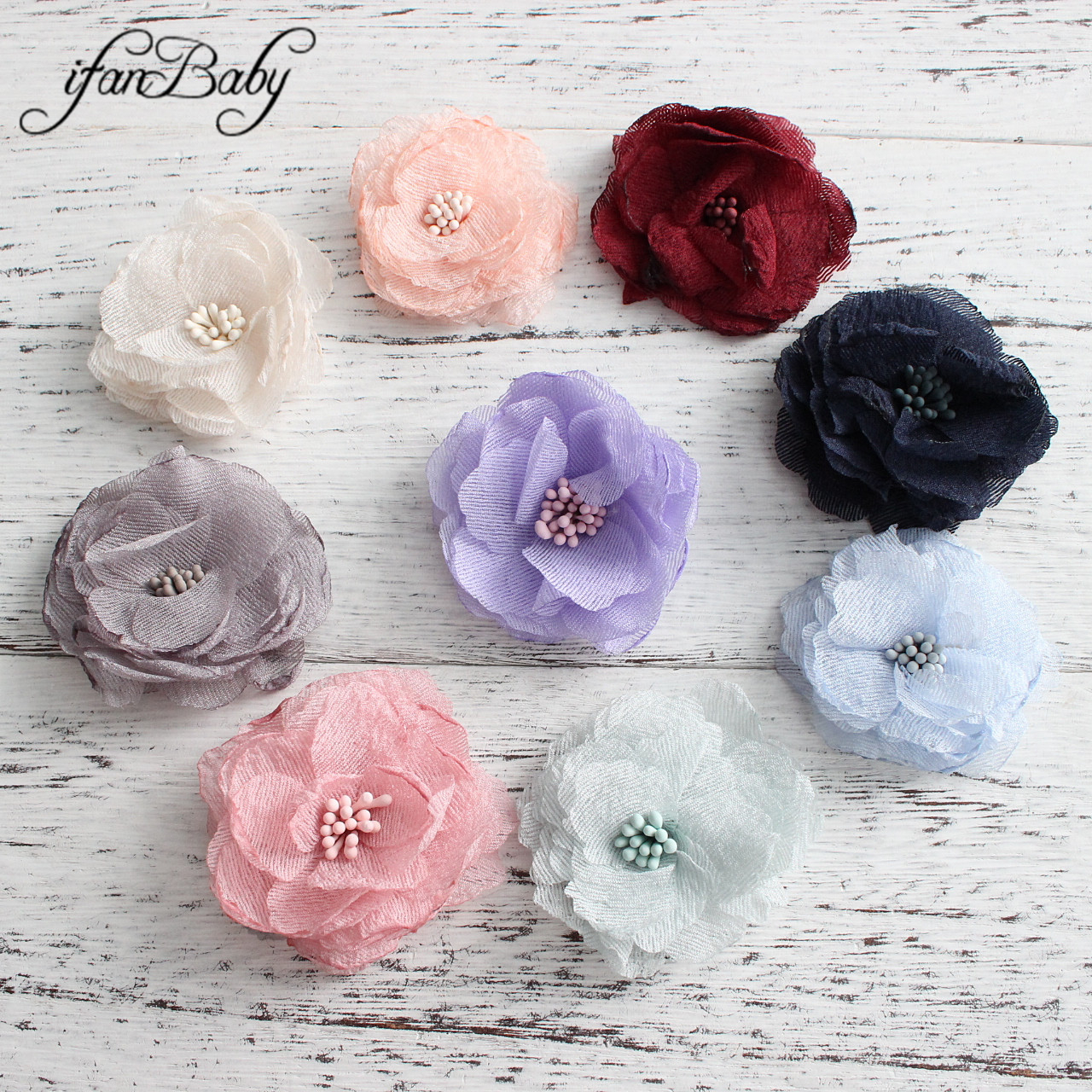 Accessories For Hair Singed Burn Flowers For DIY Craft Hair Accessories Fabric Flowers