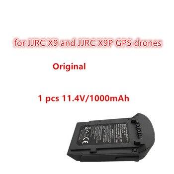 Batería Original 11,4 V 1000mAh para JJRC X9 y JJRC X9p 4K GPS profesional sin escobillas WIFI FPV piezas de recambio de drones RC batería