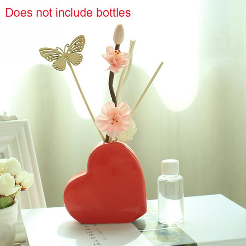 Fresh Air No Fire Aroma Ceramic Bottle Essential Oil  Diffuser Home Car Sticks Spa Fragrance Reed Floral Shape Gift Hotels Decor