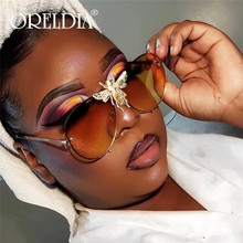Retro Round Sunglasses Women 2020 Brand Designer bees Sun Glasses Women Mirror Gradient Sunglasses Ray Female Oculos De Sol