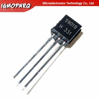 100pcs S9018 SS9018 9018 RF Bipolar Transistors NPN/30V/50mA TO-92 new original - sale item Active Components