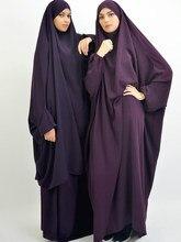 Abaya – Robe de prière pour Ramadan, une pièce, Jilbab, Hijab, Kaftan, à capuche, couvre-chef, longue, vêtement modeste, Islam dubaï