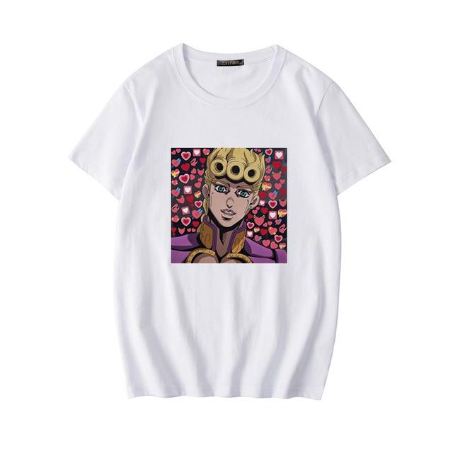 Japan Harajuku Anime JoJo Bizarre Adventure Funny T-shirts for Woman Cartoon Printed T-shirt Female Casual Cotton Tops Tee 4