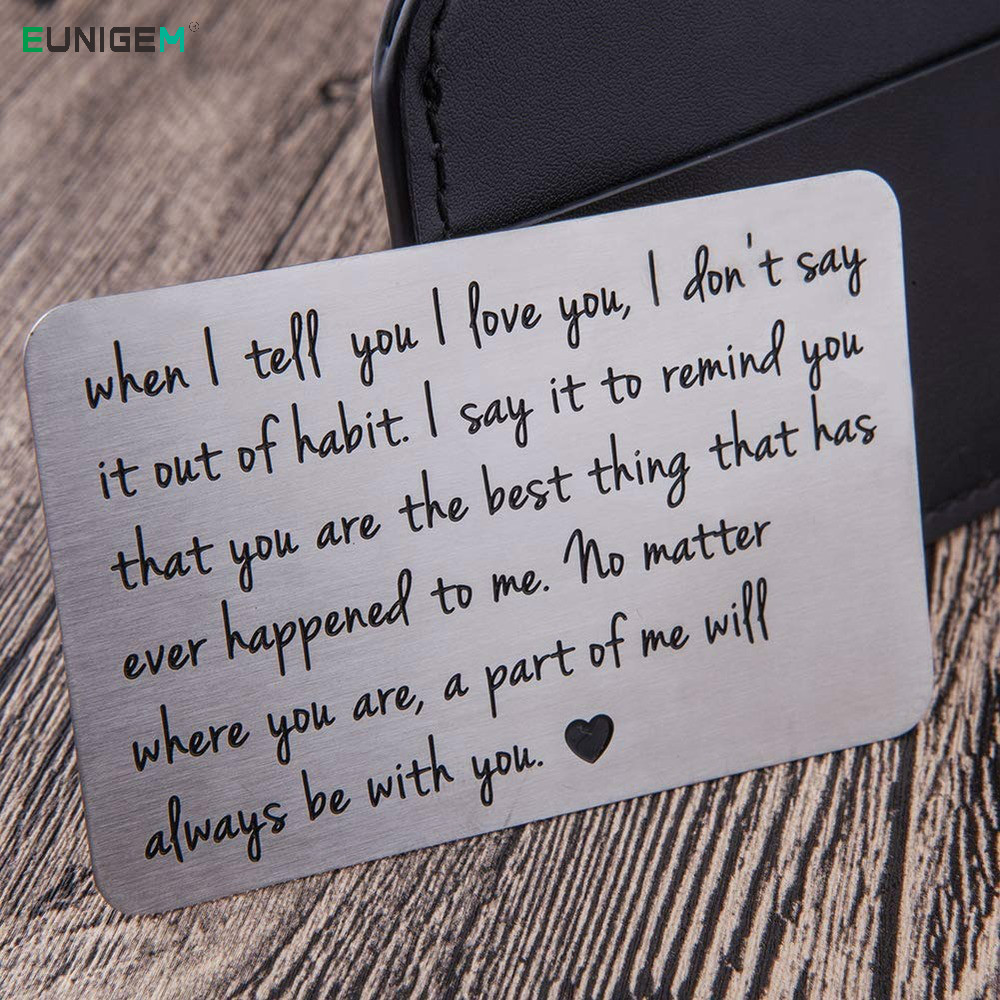 Fashion Wallet Insert Card For Men Husband From Wife Girlfriend Boyfriend Birthday Valentines Day Gifts For Him Groom Bride