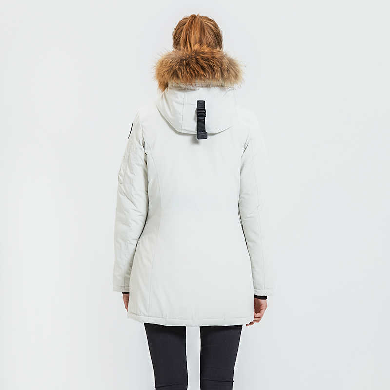 Lực Lượng Mãnh Hổ Áo Khoác Mùa Đông Dành Cho Nữ Áo Khoác Dù Nữ Ấm Áp Làm Dày Phối Với Gấu Trúc Cổ Lông Nữ Ấm Áp Snowjacket Đệm áo Khoác