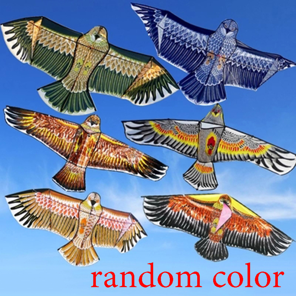 Kite Kids Children Cartoon Animal Kites 1.1M Animal Kite 30M Line Cord Random Color Outdoor Fun Sports For Children