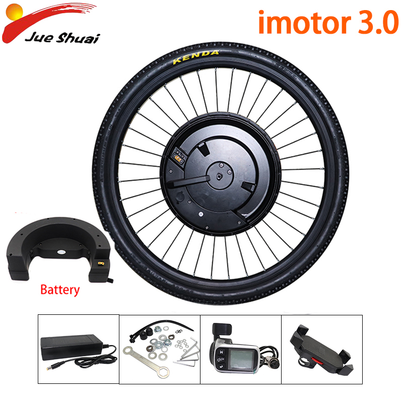 New Electric Bicycle Kit Imotor 3.0 Front Motor Wheel with Battery 24''26''29''700C E Bike Conversion kit APP Disc/V Brake Ebike
