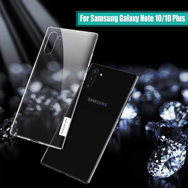 לסמסונג גלקסי הערה 10 מקרה 6.3 Nillkin טבע שקוף ברור רך סיליקון TPU כיסוי עבור Samsung הערה 10 בתוספת מקרה 6.75