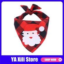 Рождественская собака искусственный лось печатные питомцы шарф