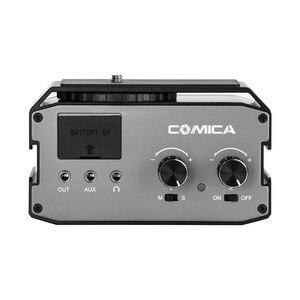 Image 2 - CoMica CVM AX3 XLR Audio Mixer Adapter Preamplifier Dual XLR/6.35mm/3.5mm Mics Audio Mixer for Canon Nikon Sony DSLR Camera