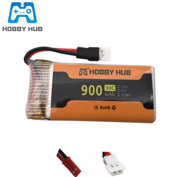 3.7V 900mAh 30c lipo Battery For X5 X5C X5SC X5SW 8807 8807W A6 A6W Rc Drone Spare Parts 902555 3.7v lipo Battery jst xh2.54 image