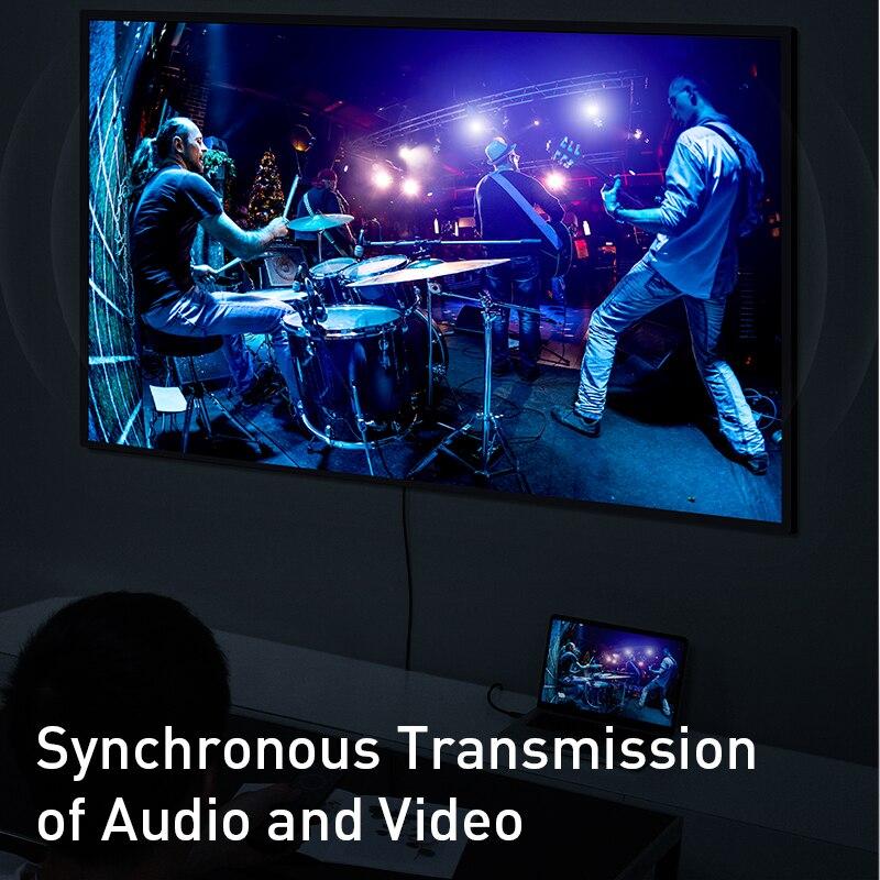 Image 5 - Baseus dp do hdmi kabel 4K z męskiego na męskie port wyświetlacza displayport do hdmi adapter do kabla do projektora PS4 PC konwerter hdtv przewód -