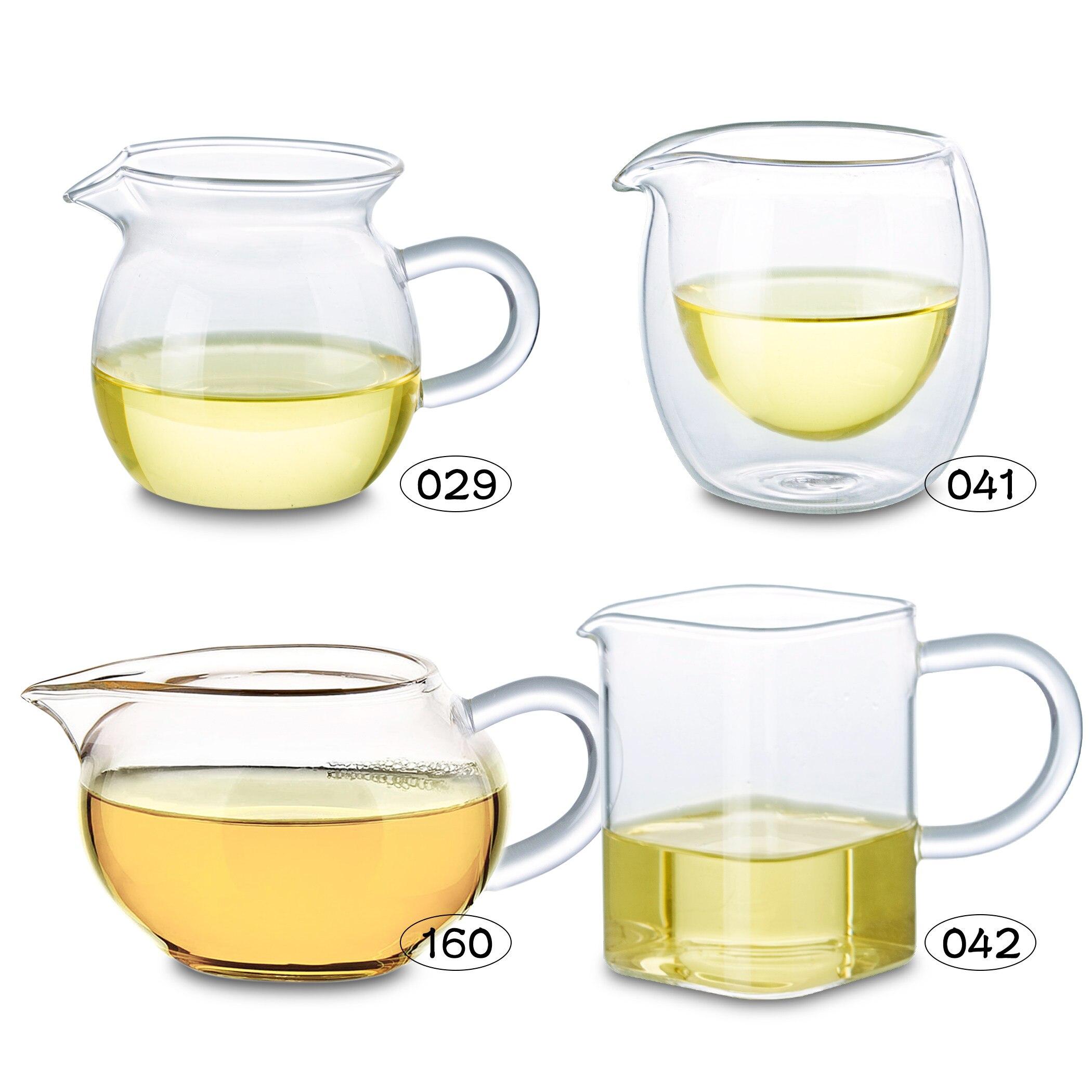 Tipi di Resistente Al Calore Vetro Trasparente Tea Servire Brocca Cinese Gong fu Cha Hai