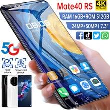 Global Versie 16Gb 512Gb Mate40 Rs 7.3Inch Smartphone Mobiel 24 + 50Mp 4G 5G netwerk 6800Mah Gps Wifi Mobiele Telefoon