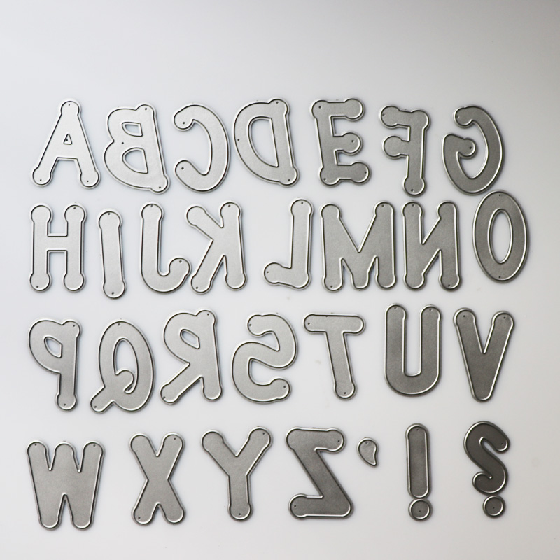 Large Big Alphabet Set Die Cut Letter Metal Cutting Dies Stencil Scrapbooking Embossing 2019 New Christmas Craft Stamps And Dies