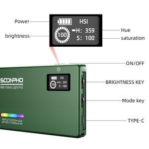 Image 3 - Soonpho RGB LED מצלמה אור מלא צבע פלט וידאו אור ערכת Dimmable 2500K 8500K Bi צבע פנל אור CRI 95 +