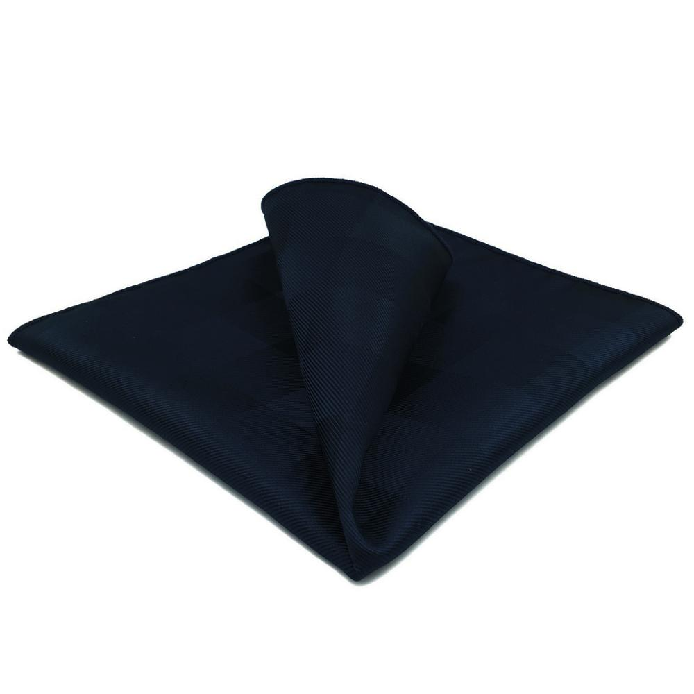 GH02 Navy Blue Checkes Mens Pocket Square Classic Silk Handkerchief Fashion Wedding Hanky