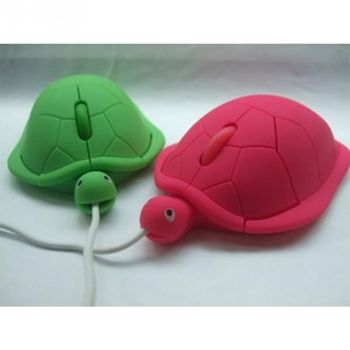 Cute Turtle Mouse Ergonomic Optical USB Wired Mice Funny Shape PC Computer Laptop Mouses 1